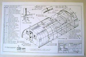 Quonset Hut Plans Details About Ww2 Quonset Hut Plans