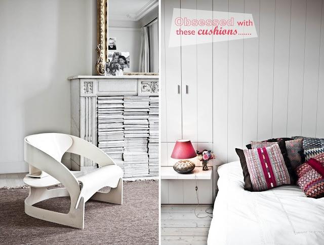 white + cushions