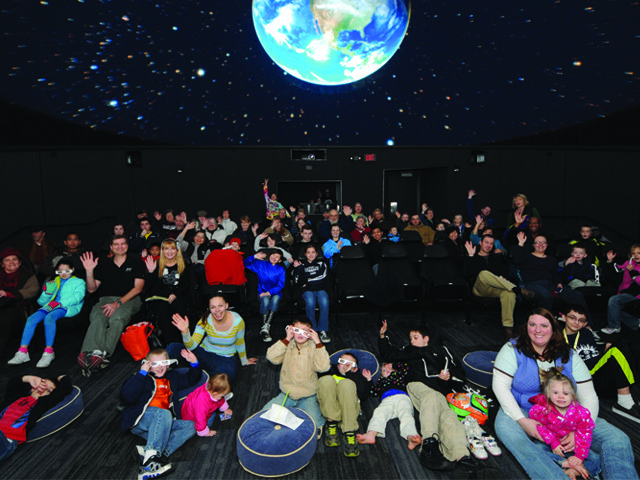 Planetarium for kids - Peirce College Science Dome