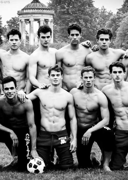 Abercrombie and Fitch Models playing football
