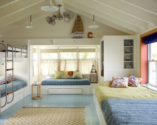 solues criativas e funcionais para quartos de irmos pequenos attic bed