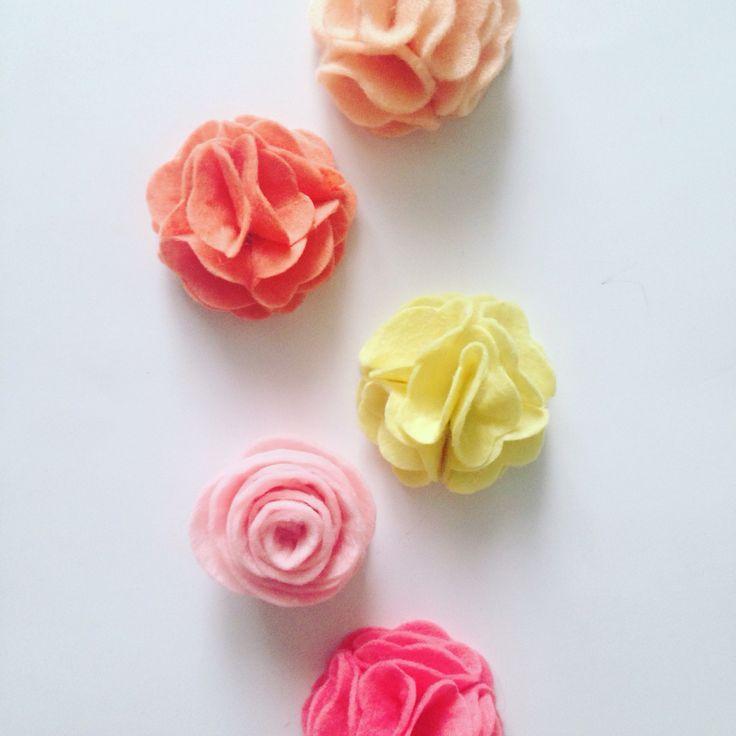 #felt #flowers #diy #handmade