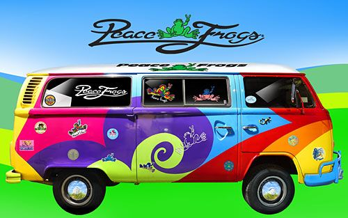 FREE! Wallpaper Downloads - On the Bus - Peace Frogs Free Wallpaper Download | Positively Peaceful Shirts, Jewelry & Gifts from Peace Frogs