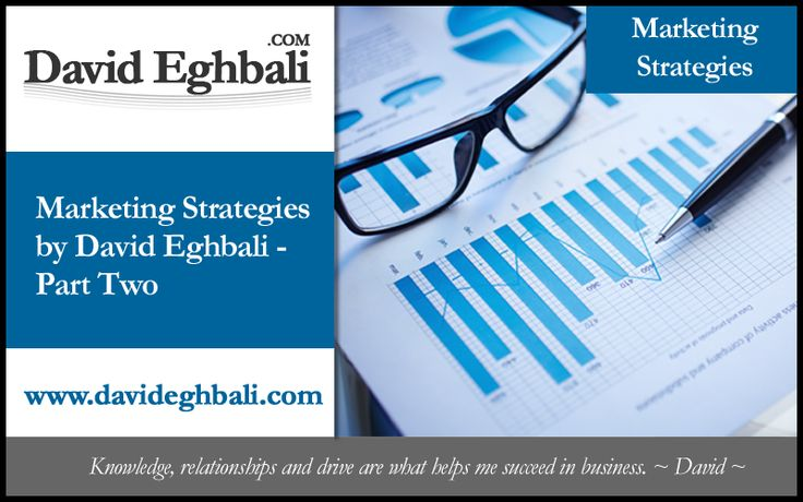 marketingstrategiesparttwo David Eghbali explains that to inspire the creation of strategic marketing approach concepts that resonate with target audiences, one or a combination of marketing campaigns is necessary.