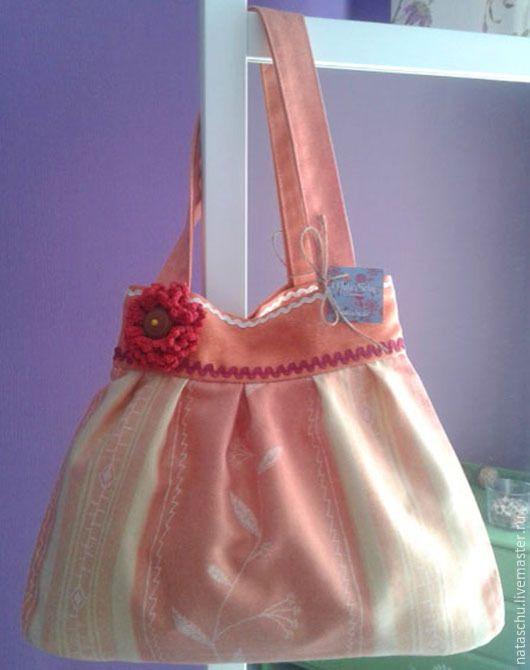 Купить Сумка текстильная на каждый день - разноцветный, цветочный, текстильная сумка, тканевая сумка