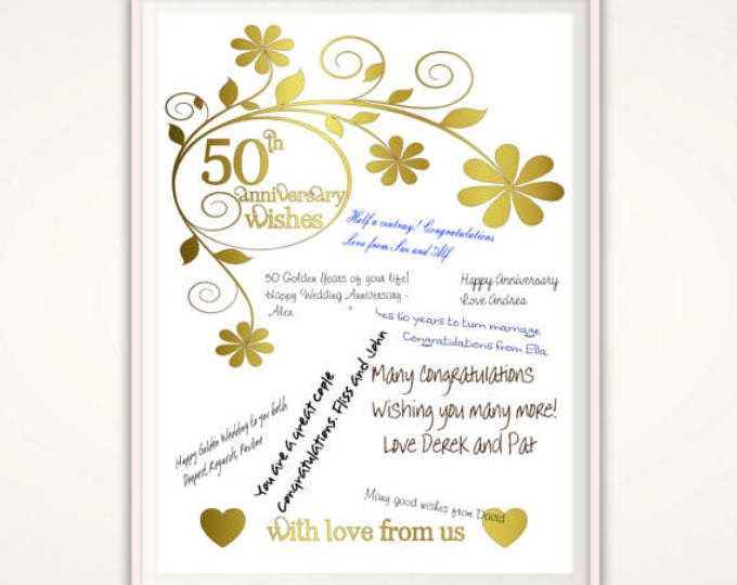 50th Golden Wedding Anniversary Gifts: Best 25+ Golden Anniversary Gifts Ideas On Pinterest