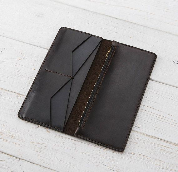 Leather Wallet Purse, Zipper Wallet, Women Wallet,…