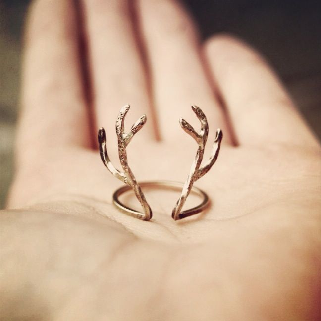 Gold Antler Ring.  For the woodswoman.