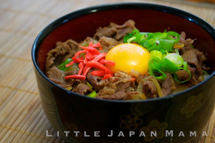 ❤ little japan mama ❤: Gyudon Recipe(tsukimi gyudon)