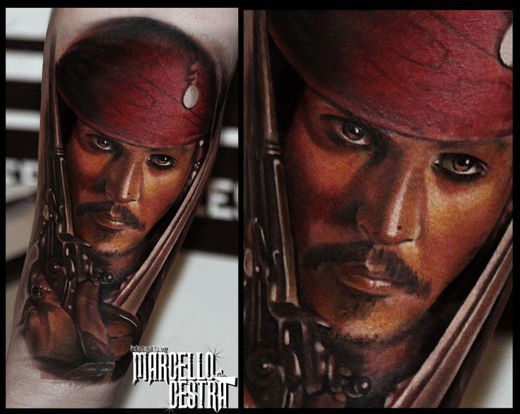 JACK SPARROW TATTOO #jack sparrow #marcellocestra #tattoo
