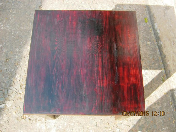 A lovely cherry red table made from Heart Eco reclaimed Baltic Pine. Contact Peter Mulder on 082 875 6793