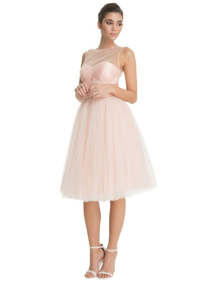 789c8fffc536 pink prom dress tulle vintage retro wedding bridesmaid knee length RRP £60  tulle
