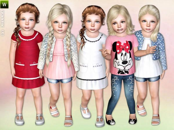 Fancy Little Girl clothing set by Lillka - Sims 3 Downloads CC Caboodle
