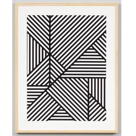 Mono Maze | Framed Print