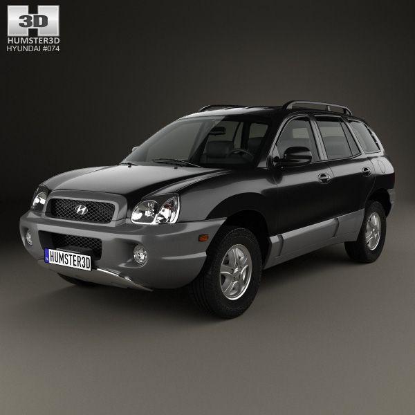 Hyundai Santa Fe (SM) 2004 3d model from humster3d.com. Price: $75