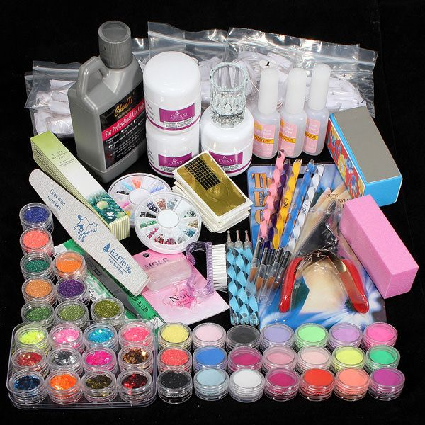 20 best nail art kits images on pinterest nail art kits acrylic xx shop 42 acrylic powder liquid brush glitter clipper primer file nail art tips set kit prinsesfo Images