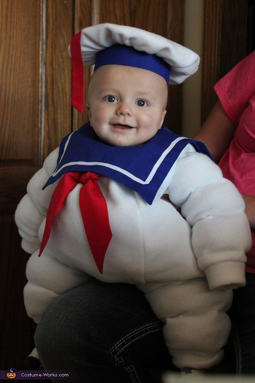 Stay Puft Marshmallow Man - cute DIY baby costume This is Ryan's first baby's Halloween costume that Aunt Kelly will be making.  Fluffy's first born!!!!! How cute!!!!!!! My Grandbaby!!!!!! LOLOLOL