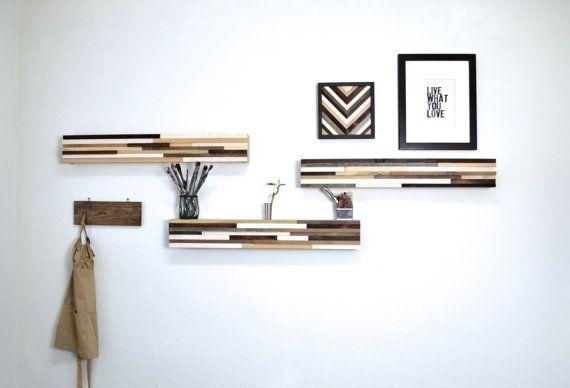 Bonificata legno arte mensola  blocchi di legno di moderntextures, $650.00
