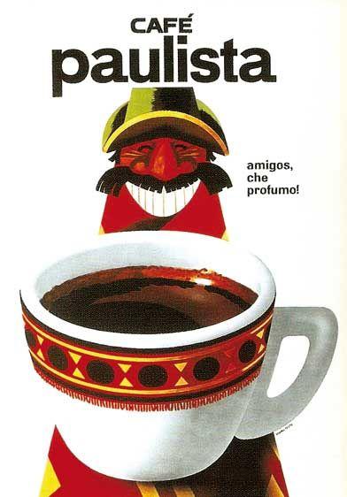 1959-65 - Armando Testa - Campagna pubblicitaria per il caffè Paulista della Lavazza