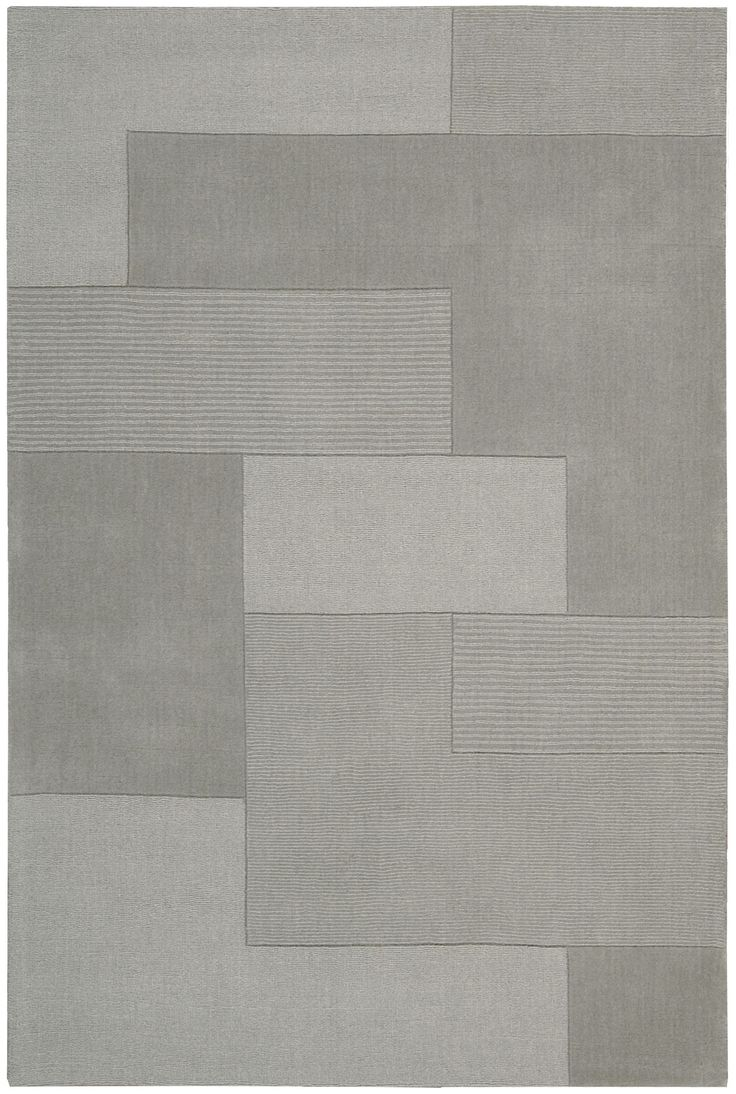 Bowery Hand Knotted Wool Grid Wisp Area Rug Rug Texture