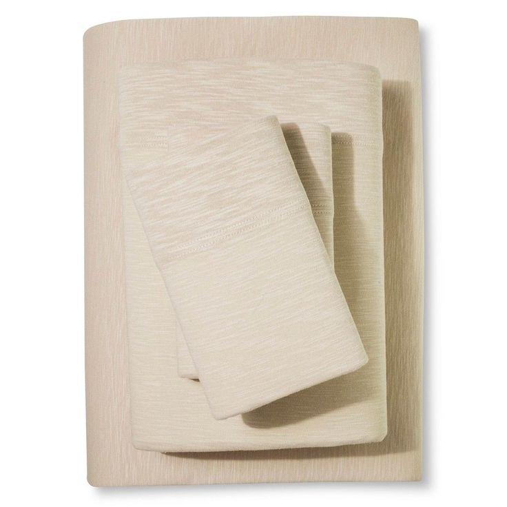 Organic Jersey Sheet Set Brown Linen (Queen) - Threshold