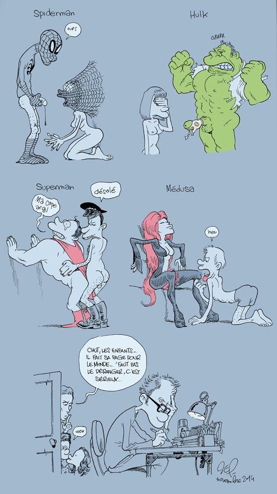 Vous vous êtes déjà posé des questions sur la vie sexuelle des super-héros ? Eh bien voilà... Attention, c'est très drôle !
