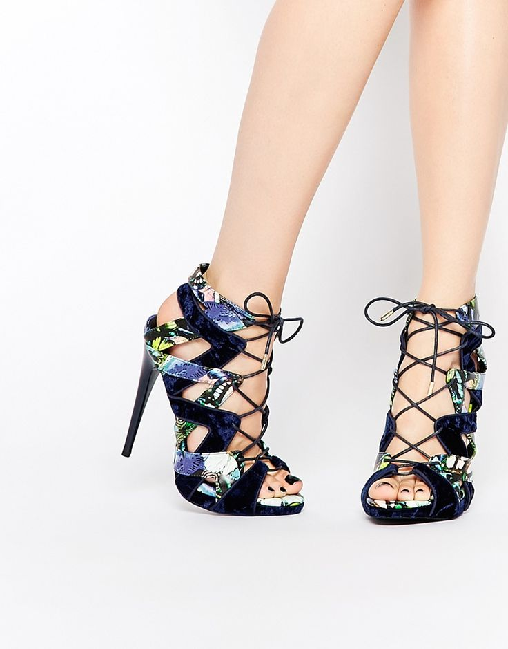 your best choose Adorable KG By Kurt Geiger Hoxton Red Ghillie Lace Up Heeled Sandals Outlet Online Sale