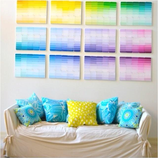 Paint Sample Wall Art Paint Chip Art Pinterest Paint Art And Paint Sample Wall