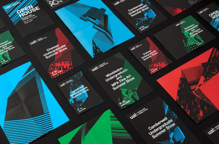 Brochures, posters and flyers by Spy for the University of the Arts London 2016–17 campaign