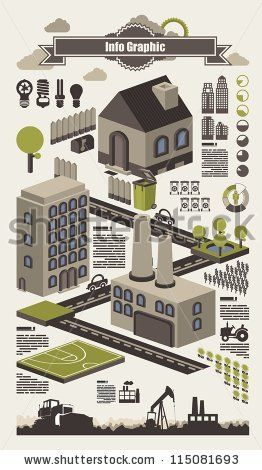 isometric info graphics, ecology vector elements,set 2 by filip robert, via Shutterstock