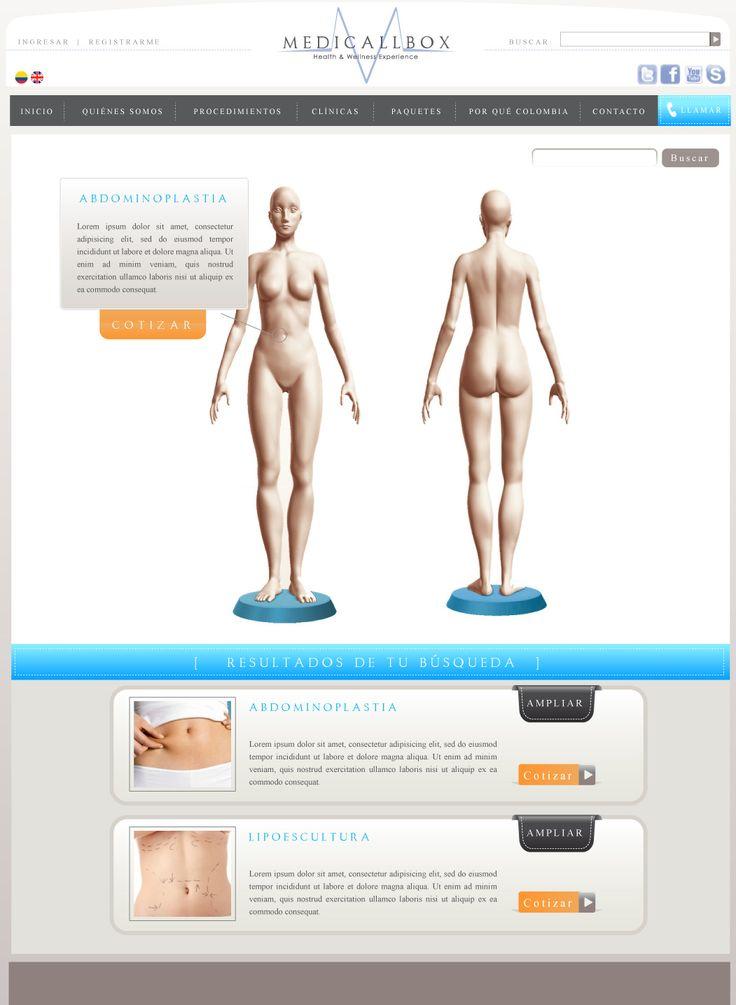 Sitio web para MEDICALLBOX - Año ©2010
