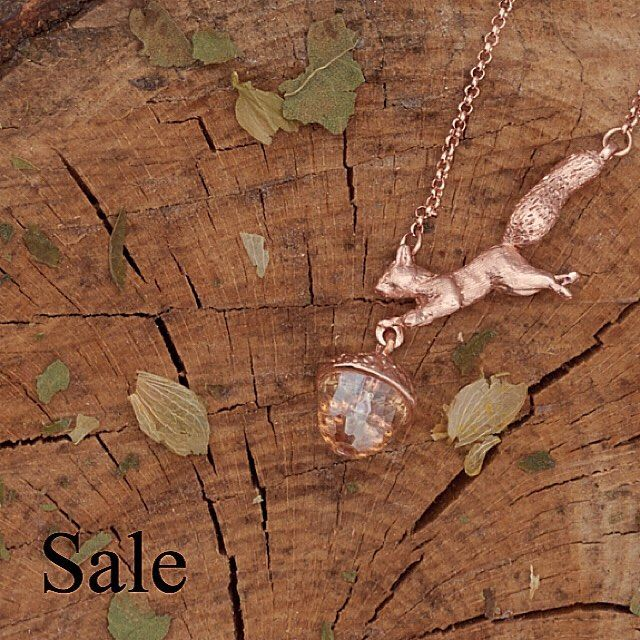 ✨ This beautiful #RoseGold #Squirrel with @swarovski #acorn now has £20 off in our Winter #sale! ✨ #BillSkinner #RedSquirrel #Swarovski #rosegoldjewellery