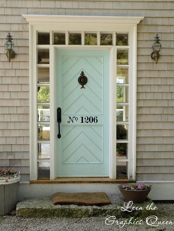 beautiful door- Just love this color