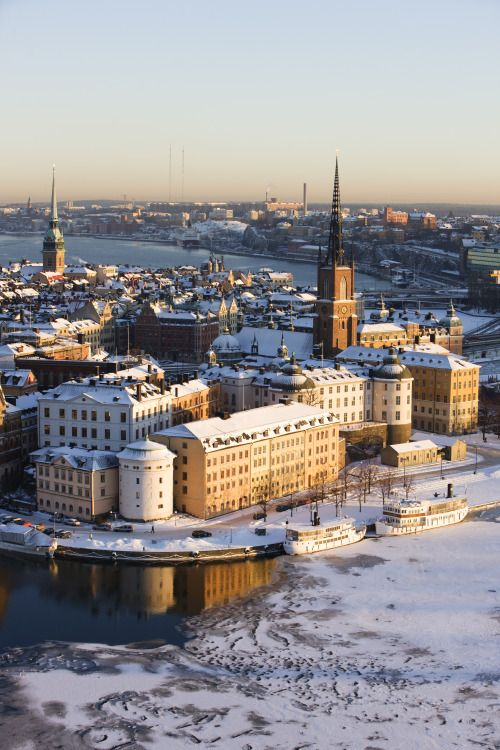 Stockholm, Sweden. Stockholm is built on 14 islands around one of Europe's largest and best-preserved medieval city centers.