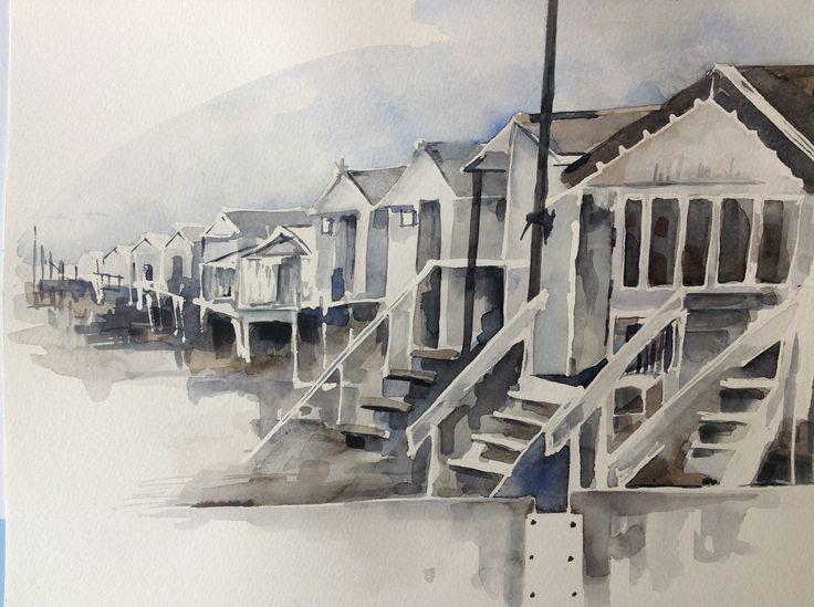 Strandkastelen, huisjes op het strand van IJmuiden