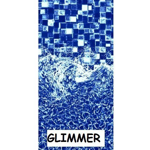 "24 ft Round Beaded x 52"", Glimmer, Above Ground Pool Liner, Vinyl Pool Liner"