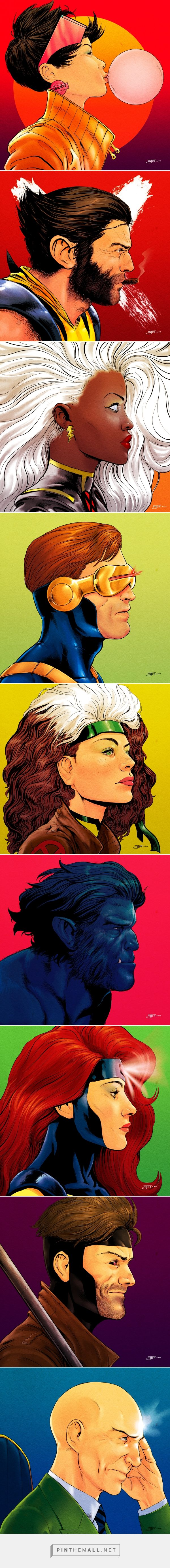 X-Men Portrait Project Love that the artist gave Rogue freckles -- don't see…