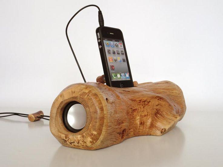 Handmade Wood Charging Dock Speaker Gadgets Tech Pinterest Woods