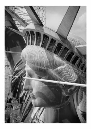 Statue of Liberty - profile view of left side of the head ...