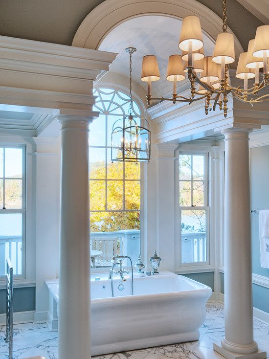 Designed by Stephen Fuller | Gabriel Builders | Eclectic master bath