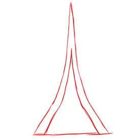 how to draw the eiffel cn tower