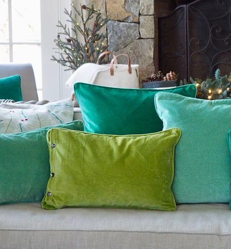 "Esthetic Living - Cushion Cover - Velvet Olive - 13""x 20"", $29.95 (http://estheticliving.com/cushion-cover-velvet-olive-13x-20/)"