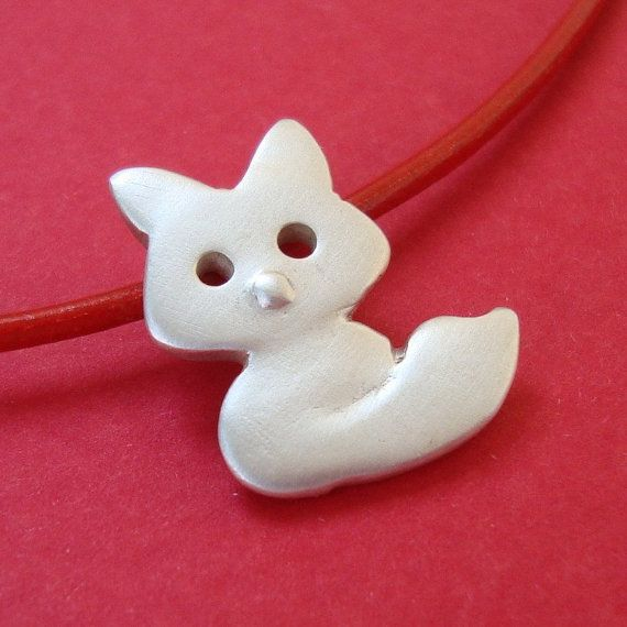 Ressort Fox collier en argent sterling Teen Kids bijoux cadeau jeune fille cute charm collier maman fête des mères