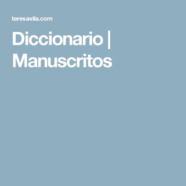 Diccionario | Manuscritos