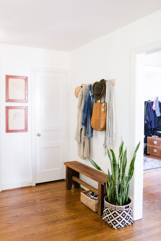 13 narrow mudroom bench - Shelterness