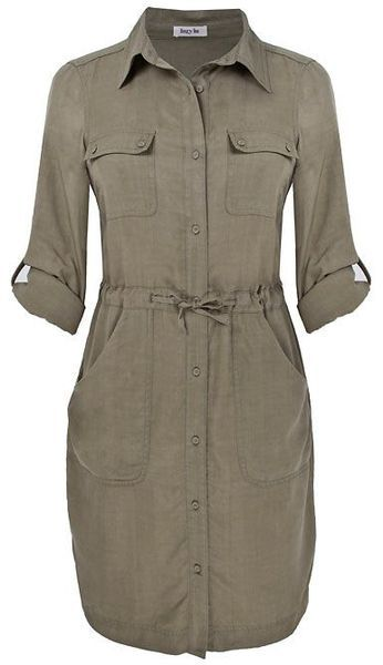 Lazy Lu Gray Tencel Shirt Dress…I like shirt dresses, okay?!