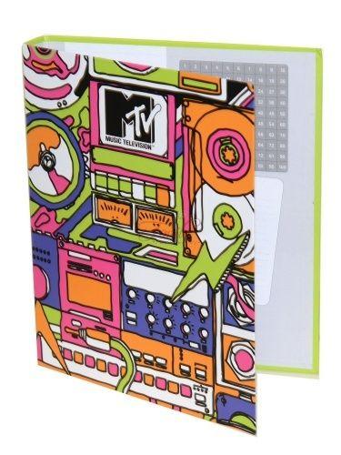 Bellissimo raccoglitore MTV a 4 anelli il raccoglitore può contenere sia fogli forati che buste.