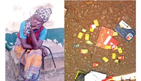 Photo: Mad woman arrested with 25 SIM cards two ATM cards   Twenty five SIM cards two Automated Teller Machine (ATM) cards different bank tellers and a working mobile telephone were yesterday recovered from a supposedly mad woman pictured below at Oshodi bus stop Lagos State.  The woman it was learnt has been living at the spot in the last two years. The items were discovered when the officials of the Nigeria Railway Corporation (NRC) who wanted to use the place tried to evacuate her. An NRC…