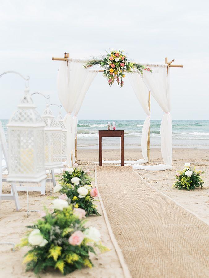 beach wedding south west uk%0A Beach Wedding by South Padre Sands