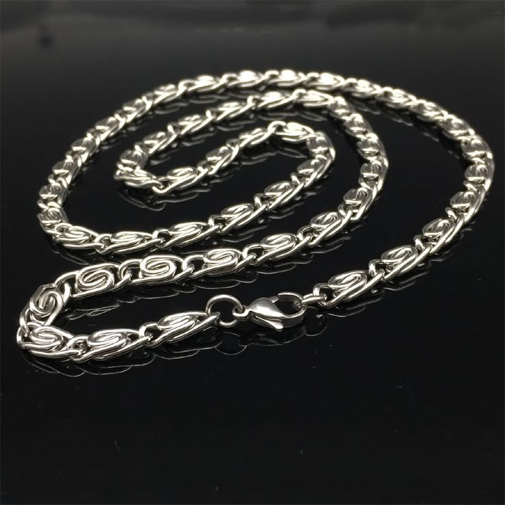 5MM Top Quality Mens link Chain Silver Tone Full 316L Stainless Steel Male Necklace Men Fashion Jewelry 24inch
